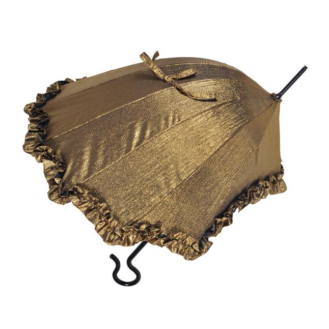 パラシェル リンダ ゴールド パラソル 晴雨兼用長傘 【DiCesare Designs】Parashell Linda Gold Parasol ディチェザレ 日傘 日がさ