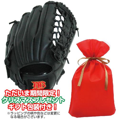 軟式用野球グローブ12インチ 中学生 高校生 一般大人向け (カラー/ブラック)