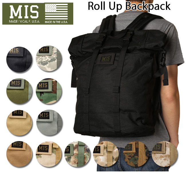● 【MIS/エムアイエス】 バックパック Roll Up BackPack MIS-1009 お買い得