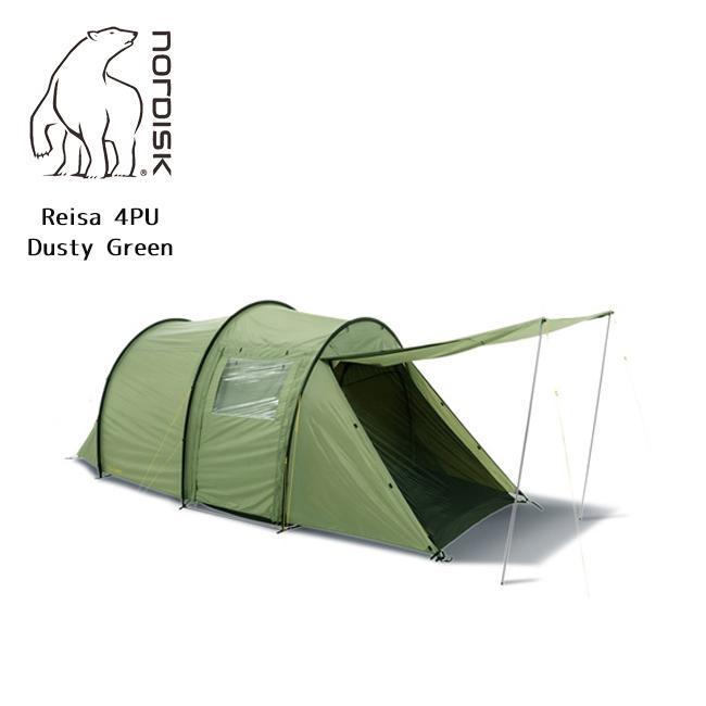 NORDISK ノルディスク Reisa 4 PU (レイサー 4) Dusty Green (4人用テント) 122030 【テント/アウトドア/キャンプ/日よけ】