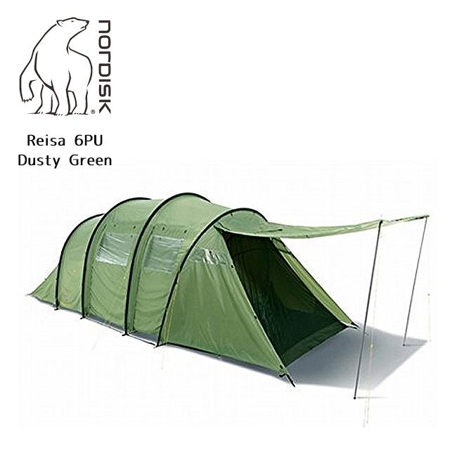 NORDISK ノルディスク Reisa 6 PU (レイサー 6) PUDusty Green(6人用テント) 122032 【テント/アウトドア/キャンプ/日よけ】