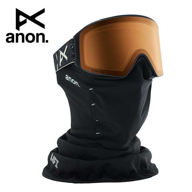 2020 anon アノン M4 Cylindrical Goggle Asian Fit With Bonus Lens /Topo Black / SONAR Night 203401 【スぺアレンズ/ゴーグル/日本正規品/メンズ】