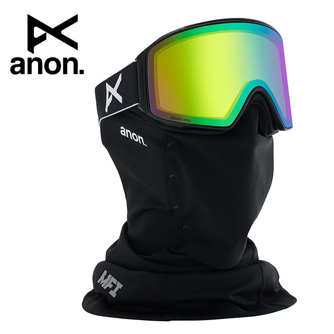 2020 anon アノン M4 Cylindrical Goggle Asian Fit With Bonus Lens /Black / SONAR Green 203401 【スぺアレンズ/ゴーグル/日本正規品/メンズ】