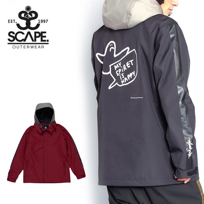 2020 SCAPE エスケープ COACH JACKET ANGEL コーチジャケット エンジェル 71119303 【2020/スノーボードウェア/メンズ/スノーボード/スノー/日本正規品】