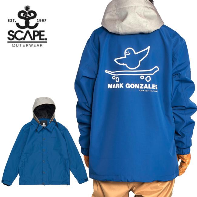 2020 SCAPE エスケープ COACH JACKET ANGEL SKATE コーチジャケット エンジェル スケート 71119304 【2020/スノーボードウェア/メンズ/スノーボード/スノー/日本正規品】