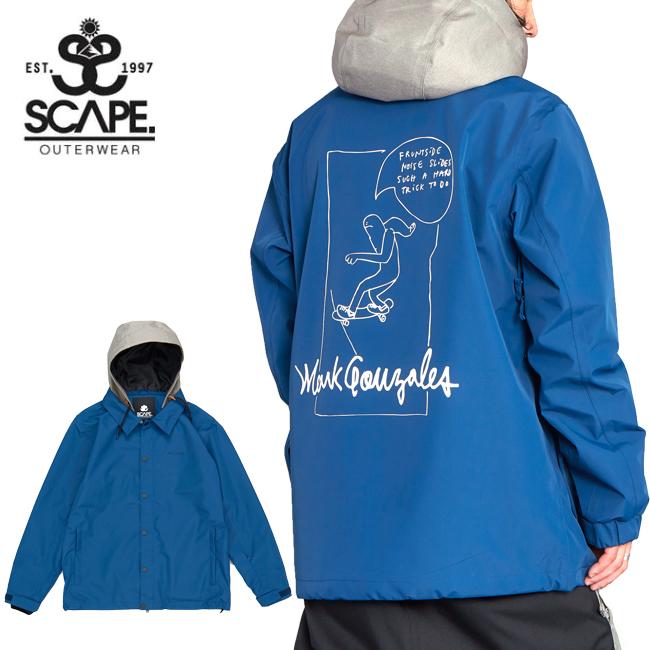 2020 SCAPE エスケープ COACH JACKET SKATE コーチジャケット スケート 71119305 【2020/スノーボードウェア/メンズ/スノーボード/スノー/日本正規品】