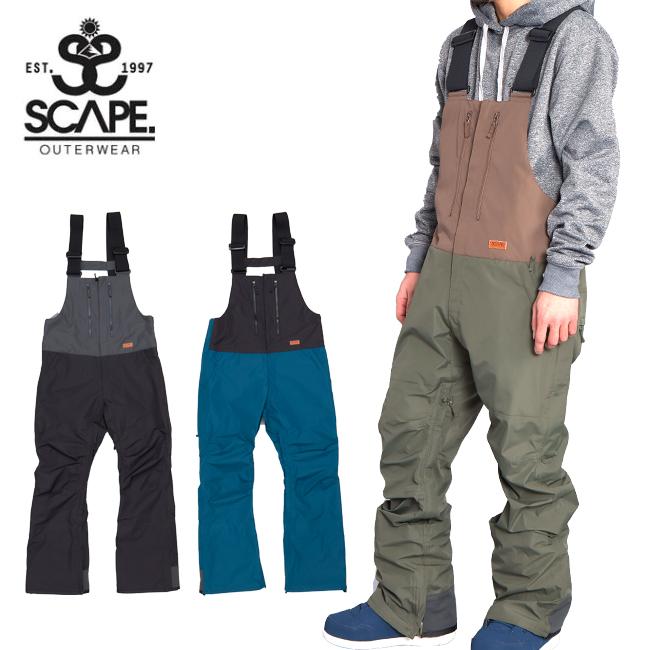 2020 SCAPE エスケープ BIB PANTS ビブパンツ 71119334 【2020/スノーボードウェア/メンズ/スノーボード/スノー/日本正規品】