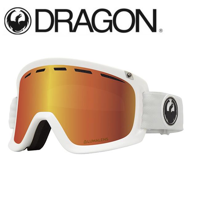 【期間限定カード決済で更に+P7倍10/4 20時~】DRAGON ドラゴン D1 WHITE/LUMALENS J. RED ION 【2020/ゴーグル/日本正規品/ジャパンフィット】