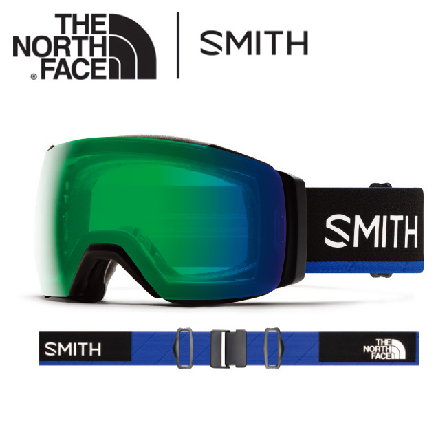 ● 2020 スミス SMITH OPTICS I/O MAG XL SMITH x THE NORTH FACE / Blue CP Everyday Green Mirror / CP Storm Rose Flash 【日本正規品/アジアンフィット/ノースフェイス/コラボ】
