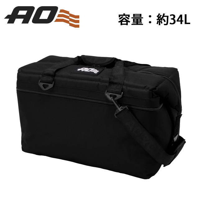 AO Coolers エーオー クーラーズ 36パック キャンバス ソフトクーラー AO36BK 【クーラーボックス/クーラーバッグ/アウトドア/キャンプ/保冷/トートバッグ】