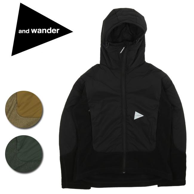 【服】 and wander アンドワンダー top fleece jacket トップフリースジャケット AA93-JT636 【アウター/メンズ/アウトドア】