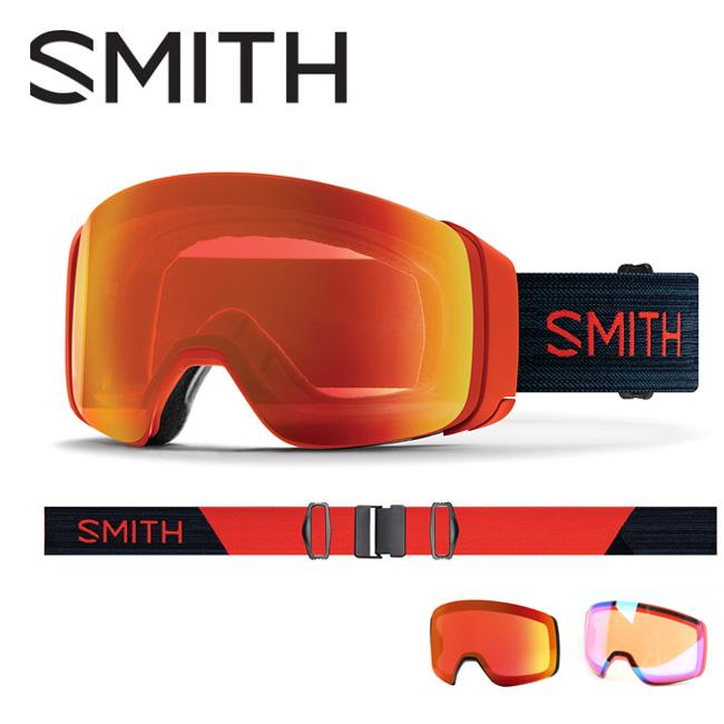 ● 2020 スミス SMITH OPTICS 4D MAG Red Rock CP Everyday Red Mirror / CP Storm Rose Flash 10260012 【ゴーグル/日本正規品/ジャパンフィット/アジアンフィット】