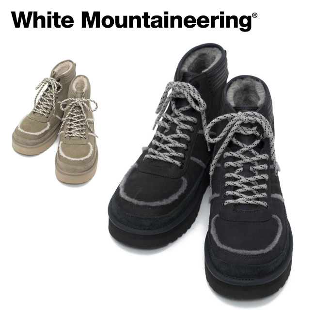 【スマホエントリー限定 P10倍 9月1日9:59まで】● White Mountaineering ホワイトマウンテニアリング WM×UGG SNOW BOOTS Highland Sport スノーブーツ ハイランドスポーツ WM1973824 【コラボ/アウトドア/ハイカット/メンズ/カジュアル】