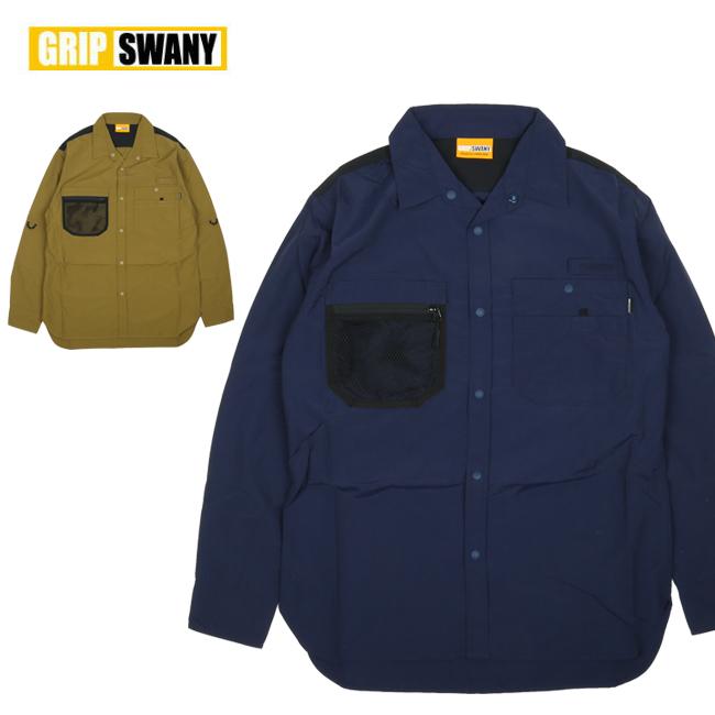【エントリーでP10倍 7月26日1:59まで】● GRIP SWANY グリップスワニー GEAR SHIRT ギアシャツ GSS-28 【トップス/カジュアル/メンズ/アウトドア】