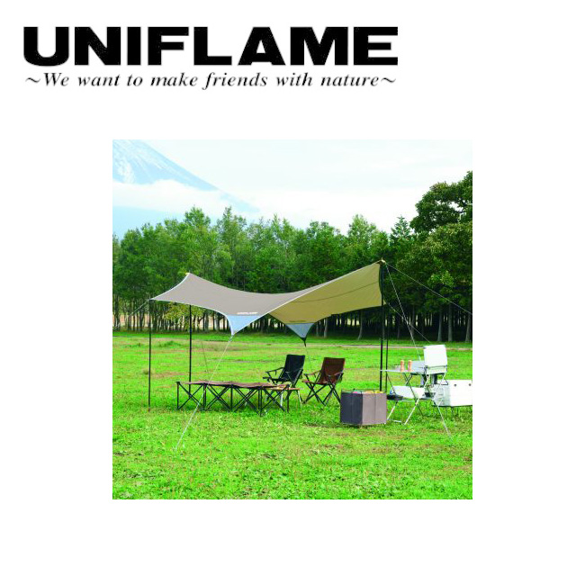 ● UNIFLAME ユニフレーム REVOタープII M TAN 681800 【アウトドア/キャンプ/日よけ/防災】
