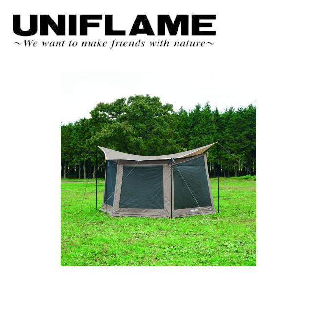 ● UNIFLAME ユニフレーム REVOメッシュウォールII M TAN 681893 【アウトドア/キャンプ/タープ】