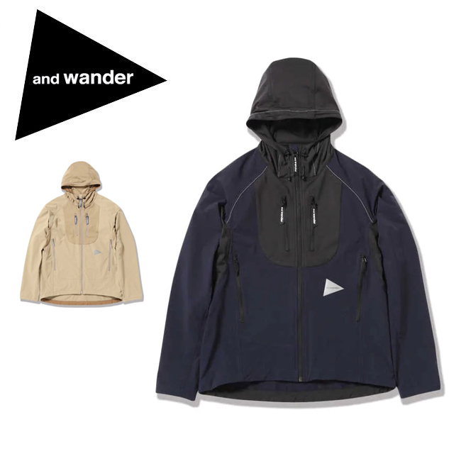 【エントリーでP10倍 7月26日1:59まで】● and wander アンドワンダー trek jacket 2 トレックジャケット 574-0121005 【アウトドア/フード/アウター】