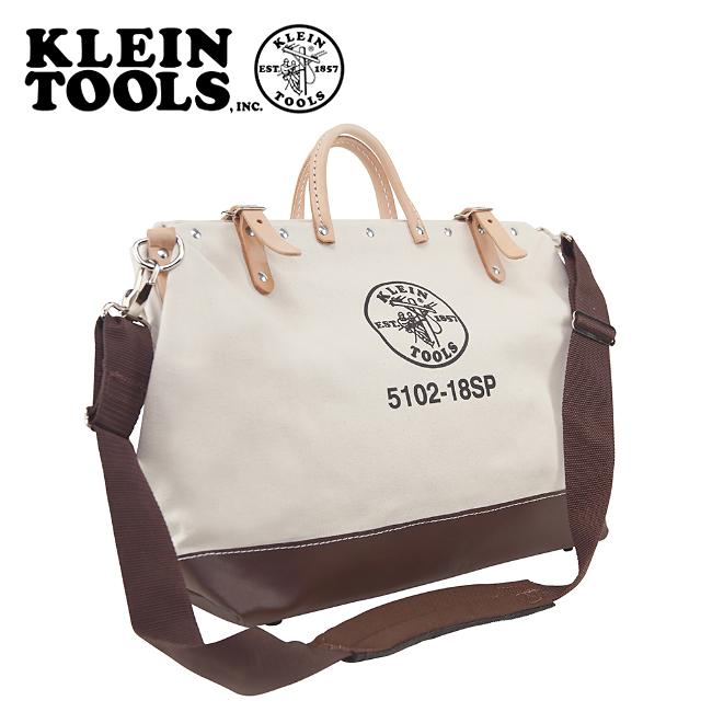 【エントリーでP5倍 6月11日1:59まで】● KLEIN TOOLS クラインツールズ Deluxe Canvas Tool Bag 5102-18SP Natural 【カバン】ツールバック キャンバス お買い得!