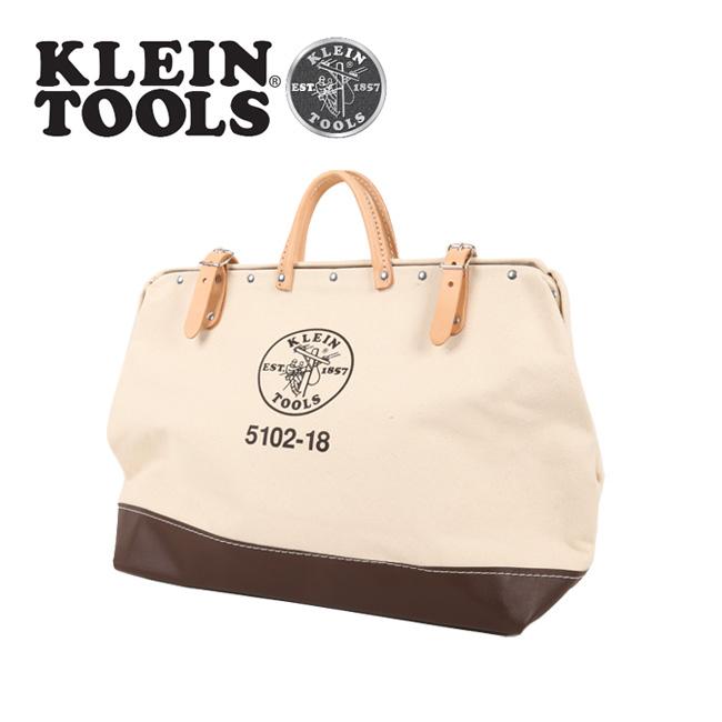 【エントリーでP5倍 6月11日1:59まで】● KLEIN TOOLS クラインツールズ Canvas Tool Bag 5102-18 Natural 【カバン】ツールバック キャンバス お買い得