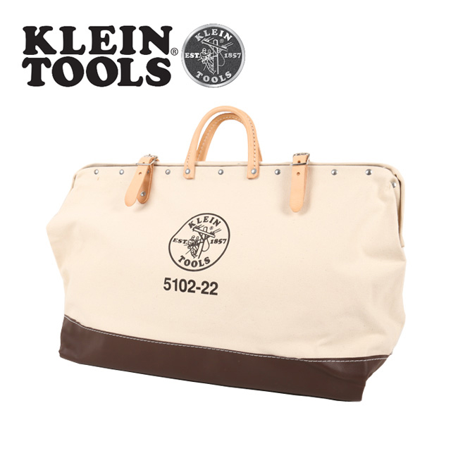 KLEIN TOOLS クラインツールズ Canvas Tool Bag 5102-22 Natural 【カバン】ツールバック キャンバス お買い得 【highball】