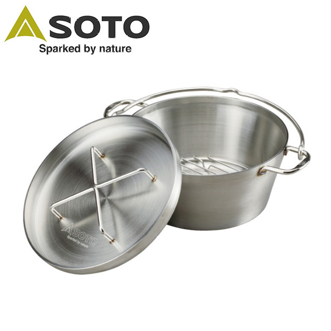 ● SOTO/ソト ステンレスダッチオーブン 10インチ ST-910 【BBQ】【GLIL】新富士バーナー ダッチオーブン 調理器具 アウトドア キャンプ お買い得