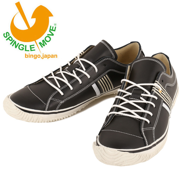 【サイズ交換送料無料】スピングルムーブ SPINGLE MOVE スニーカー SPM-168 ブラック/ホワイト Black/White spm168-124 【靴】 【highball】