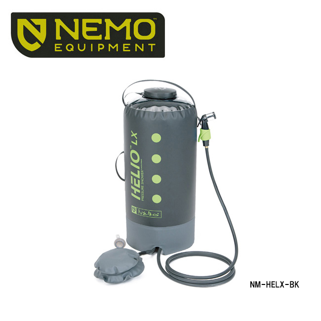 【NEMO Equipment/ニーモ・イクイップメント】 ヘリオLXプレッシャーシャワー(HELIO Pressure Shower) NM-HELX-BK 【ZAKK】 シャワー アウトドア キャンプ 海水浴 サーフィン お買い得!【即日発送】