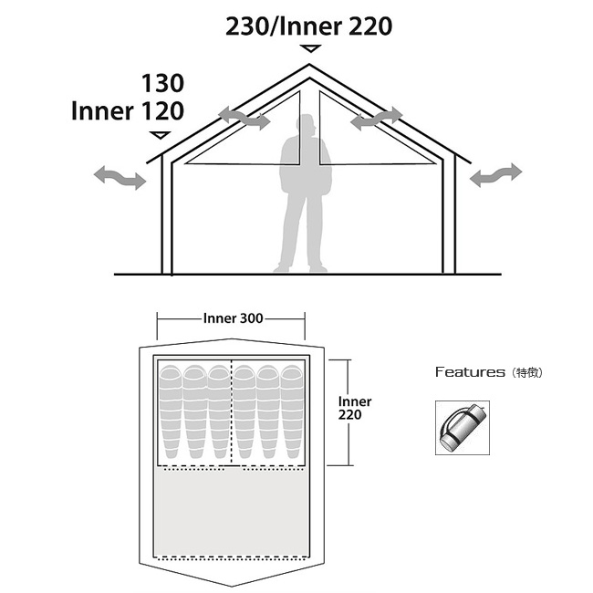 ROBENS ローベンス インナー Inner tent Prospector インナーテント プロスペクター ROB130159 テント インナーテント キャンプ アウトドア