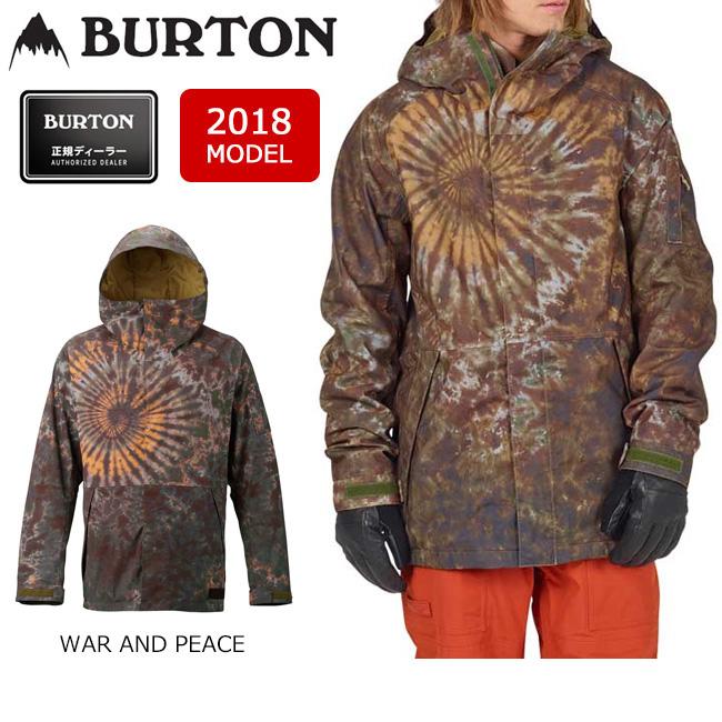 2018 BURTON バートン スノーボードウェア ジャケット MB HILLTOP JACKET WAR AND PEACE 13066103200 メンズ 【スノーウェア】【即日発送】