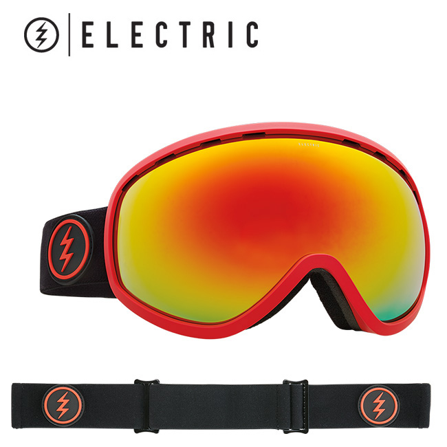 2018 ELECTRIC エレクトリック MASHER BLACK/RED BROSE/RED CHROME CONTRAST EG7217201 【ゴーグル】アジアンフィット【即日発送】