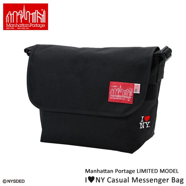 マンハッタンポーテージ ManhattanPortage 【限定モデル】I love NY Casual Messenger Bag Mサイズ MP1606JRINY 【カジュアル/メッセンジャー/ハート】 【highball】