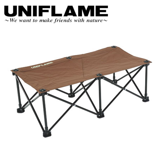 UNIFLAME ユニフレーム リラックスベンチ ブラウン×ブラック 680315 【ベンチ/ワンタッチ】