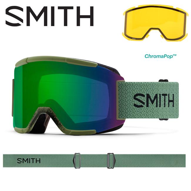 スミス SMITH OPTICS Squad Olive/CP Everyday Green Mirror 【2018/日本正規品/ミディアムフィット】