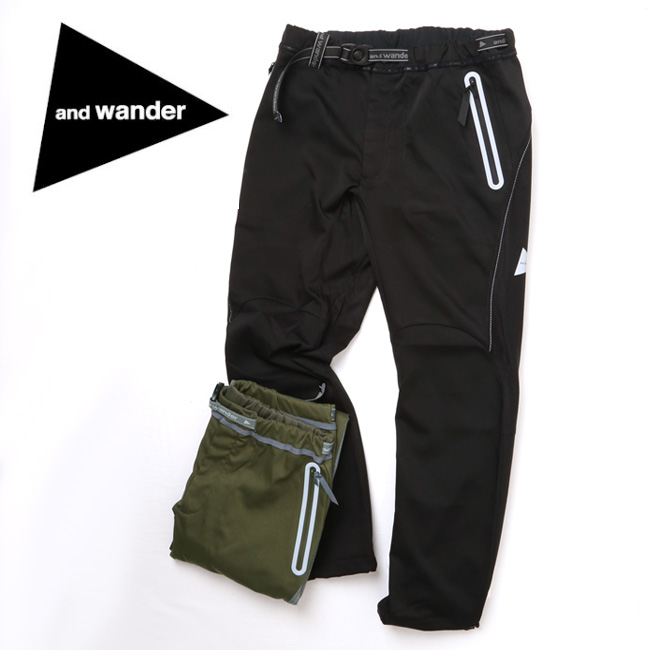 アンドワンダー and wander air hold pants AW83-FF015 【アウトドア/パンツ/撥水加工】 【highball】