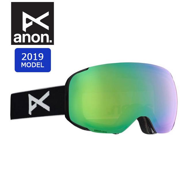 2019 anon アノン ASIAN M2 W/SPR BLACK/SONARGREEN 18556101040 【ゴーグル/日本正規品/アジアンフィット/メンズ】