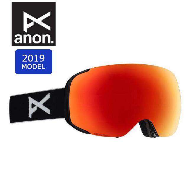 2019 anon アノン ASIAN M2 W/SPR BLACK/SONARRED 18556101054 【ゴーグル/日本正規品/アジアンフィット/メンズ】