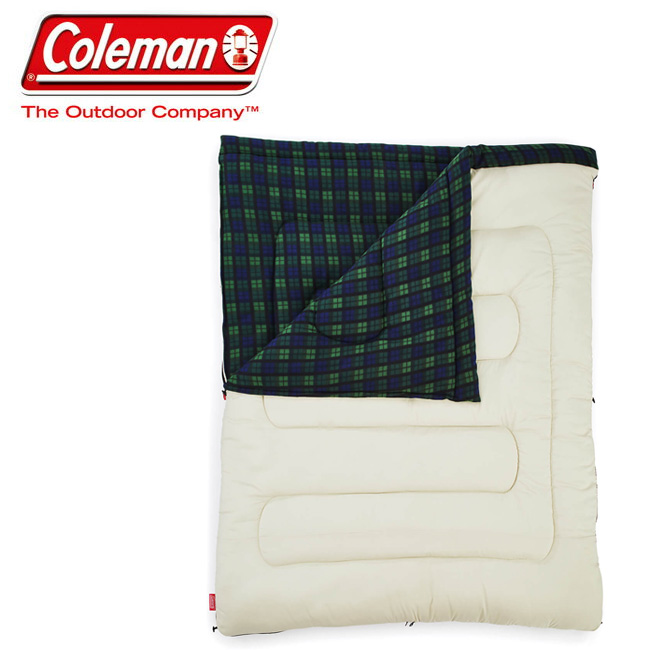 Coleman コールマン アドベンチャーフリーススリーピングバッグ/C0 (オリーブチェック) 2000033804 【アウトドア/キャンプ/車中泊】