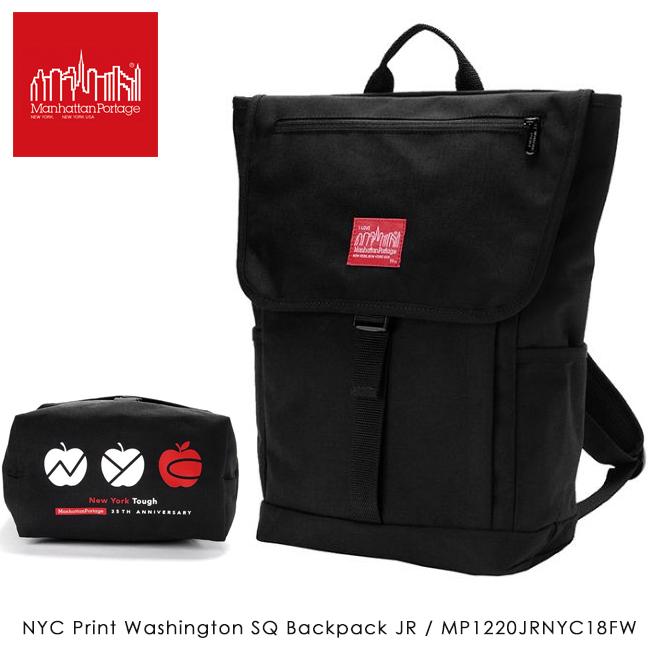 【数量限定】Manhattan Portage マンハッタンポーテージ NYC Print Washington SQ Backpack JR ワシントンスクエア バックパック MP1220JRNYC18FW 【日本正規品/アウトドア/リュック/リュックサック/メンズ/レディース】