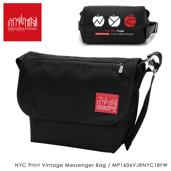 【数量限定】Manhattan Portage マンハッタンポーテージ NYC Print Vintage Messenger Bag ビンテージ メッセンジャー バッグ MP1606VJRNYC18FW 【日本正規品/アウトドア/肩掛け/ショルダーバッグ/メンズ/レディース】 【highball】