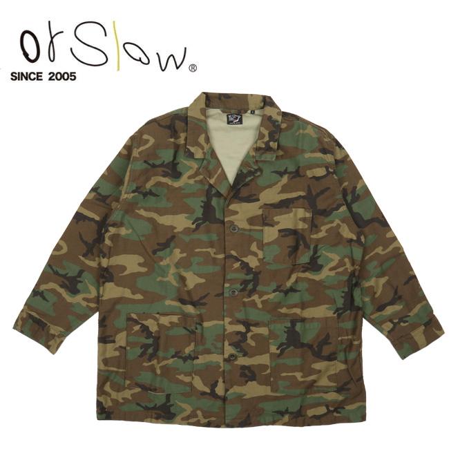 【エントリーでP10倍!7月21日20時~】Orslow オアスロウ PAJAMA SHIRT Woodland Camouflage 01-8061 【アウトドア/トップス/パジャマ/ジャケット】 【highball】