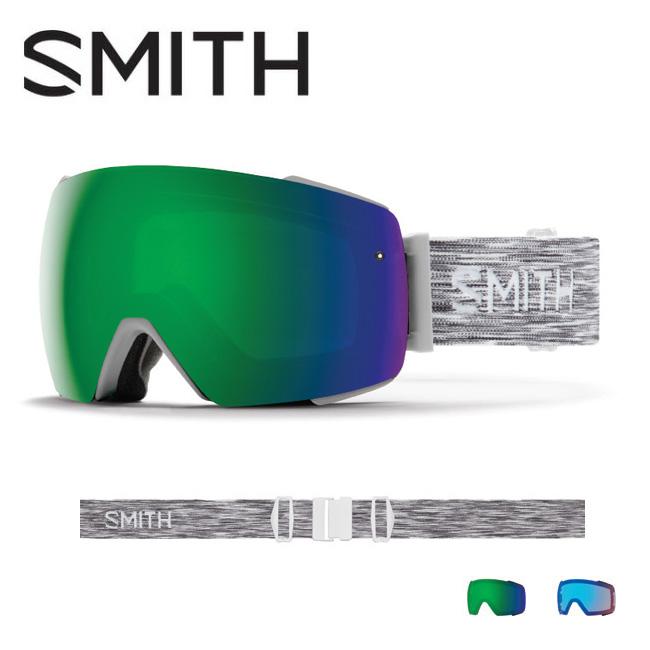 2019 スミス SMITH OPTICS I/O MAG Cloudgrey CP Sun Green Mirror / CP Storm Rose Flash 【2019/ゴーグル/日本正規品/ジャパンフィット/アジアンフィット】