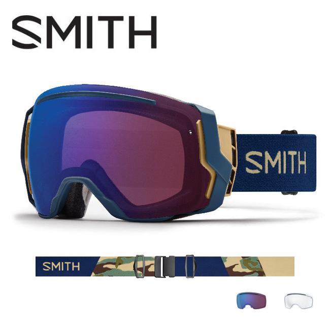 2019 スミス SMITH OPTICS I/O 7 Navy Camo Split CP Photochromic Rose Flash【調光】 /Clear 【2019/ゴーグル/日本正規品/ジャパンフィット/アジアンフィット】