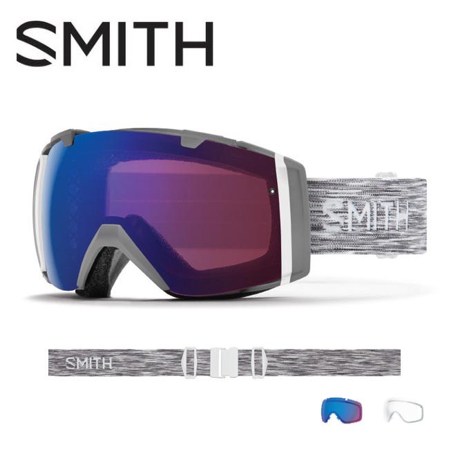 2019 スミス SMITH OPTICS I/O Cloudgrey CP Photochromic Rose Flash【調光】 / Clear 【2019/ゴーグル/日本正規品/ジャパンフィット/アジアンフィット】 【highball】