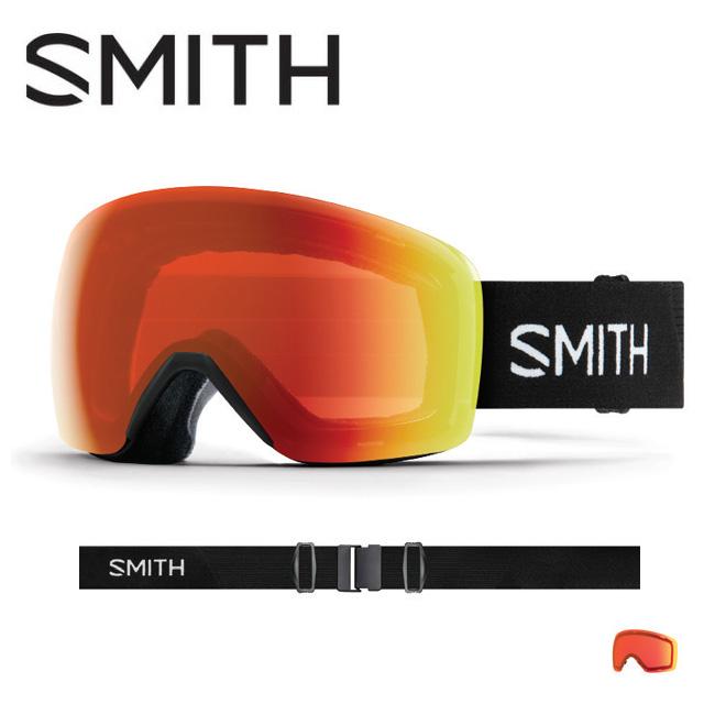 2019 スミス SMITH OPTICS Skyline Black CP Everyday Red Mirror 【2019/ゴーグル/日本正規品/ジャパンフィット/アジアンフィット】 【highball】
