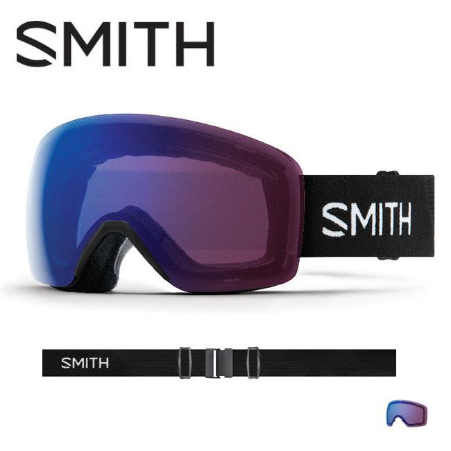 2019 スミス SMITH OPTICS Skyline Black CP Photochromic Rose Flash【調光】 【2019/ゴーグル/日本正規品/ジャパンフィット/アジアンフィット】 【highball】