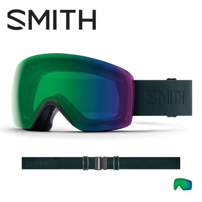 2019 スミス SMITH OPTICS Skyline Deep Forest Flood CP Everyday Green Mirror 【2019/ゴーグル/日本正規品/ジャパンフィット/アジアンフィット】