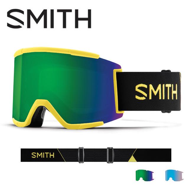 2019 スミス SMITH OPTICS Squad XL Citron Glow CP Sun Green Mirror / CP Storm Rose Flash 【2019/ゴーグル/日本正規品/ジャパンフィット/アジアンフィット】 【highball】