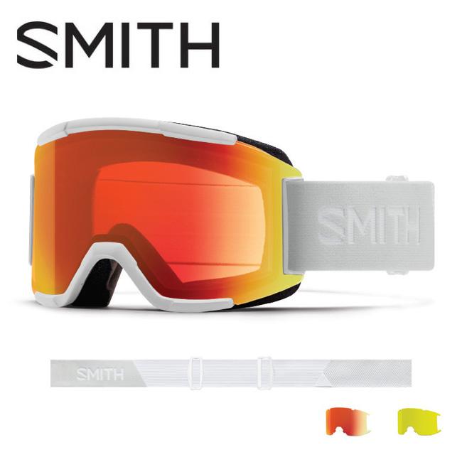 2019 スミス SMITH OPTICS Squad White Vapor CP Everyday Red Mirror / Yellow 【2019/ゴーグル/日本正規品/ジャパンフィット/アジアンフィット】 【highball】