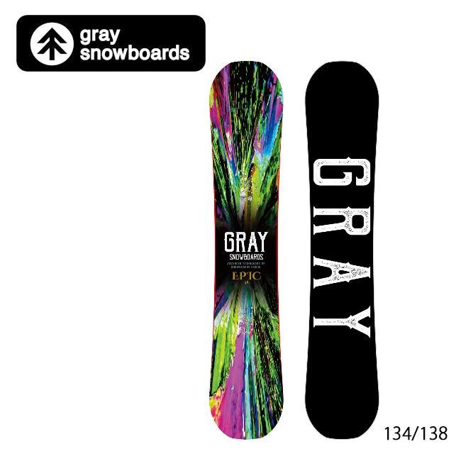 【エントリーでP10倍!7月21日20時~】GRAY SNOWBOARDS グレイ スノーボード EPIC エピック 【2019/日本正規品/スノー】国産(オガサカ製)