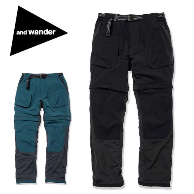 【カード限定ポイント最大10倍 4/9 20時~】and wander アンドワンダー trek 2way pants 2 AW91-FF012 【パンツ/ズボン/アウトドア/おしゃれ】and wander アンドワンダー trek 2way pants 2 AW91-FF012 【パンツ/ズボン/アウトドア/おしゃれ】